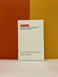 Keithley 7067-901-01 Model 7067 4-Wire Scanner Card Instruction Manual