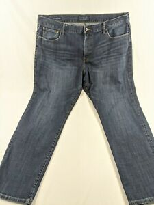 42 x 32 True Lucky Brand '329 Classic Straight' Mens Blue Jeans 100% Cotton