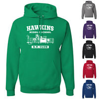 Hawkins Middle School A.V. Club Stranger Things Netflix Mens Pullover Hoodies