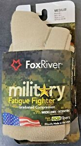 Fox River Military Fatigue Fighter OTC Compression Socks SAND Medium MPN #6036