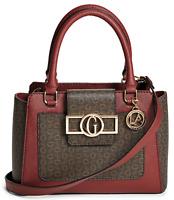 NWT GUESS GAFFER HANDBAG Large Logo Satchel Crossbody Shoulder Bag GENUINE