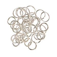 50 x Spaltringe Spiralringe platinfarbig Flachschlüssel Ringe 1.2 x 18mm