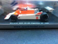 Spark - Alain Prost - McLaren - M29- Argentina GP - 1980 - 1:43 - Rare