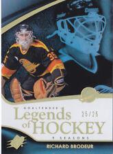11-12 SPX Richard Brodeur 25/25 SPECTRUM Legends Of Hockey Canucks 2011