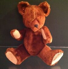 """Adorable Antique 13"""" Cinnamon Mohair Bear Fully Jointed"""