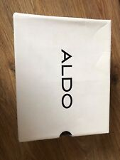 Aldo black leather pointed heels size 5.5 with box