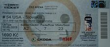 mint TICKET Eishockey WM 12.5.2015 USA - Slowakei in Ostrava