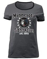 NBA Minnesota Timberwolves 5th & Ocean Ladies Baby Jersey Short sleeve Tee Small