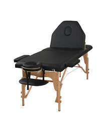 The Best Massage Table 3 Fold Black Reiki Portable Massage Table - PU Leather