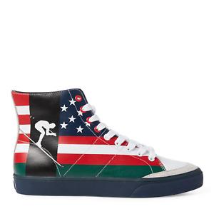 POLO RALPH LAUREN Men's Solomon Flag-Print Sneaker size: 11.5