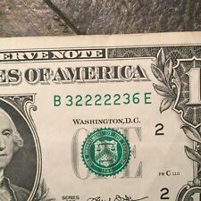 2013 $1 FANCY SERIAL NUMBER 98.4% COOL NOTE NEAR SOLID RADAR VERY COOL BILL