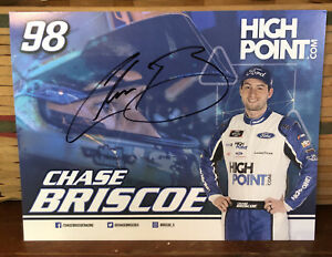 2020 CHASE BRISCOE HIGH POINT STEWART HAAS FORD #98 NASCAR AUTOGRAPHED POSTCARD
