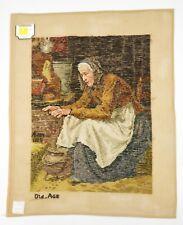 Lindhorst Tapisserie Needlepoint Old Age Albert Anker Wall Tapestry Needlework