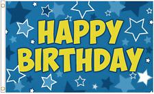 Happy Birthday Junge Blau Stars 5'x3' Flagge