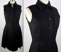 New MIU MIU by Prada sz 42 / US 6 black shirt dress sleeveless