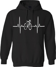 Cycle pulse Hoodie cyclist novelty Heartbeat bicycle sport gym Racing Gift top