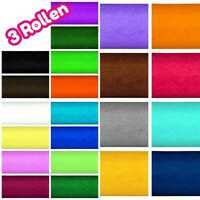 Heyda Krepp-Papier ★ jeweils 3 Rollen ★ 50 x 250 cm ★ 32 g/qm ★ 27 Farben
