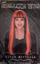 "Witch Morticia - Deluxe Wig - Black & Orange 24"" Hair - New With Tags"