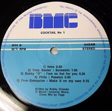"COCKTAIL No.1 BOBBY ORLANDO productions MIXED compilation MEDLEY 12"" Hi-NRG"
