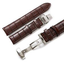 19mm Leather Watch Strap Band Deployment Clasp Buckle For Tissot PRC200