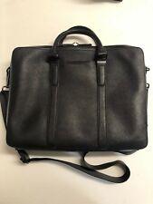 682787ca3 Calvin Klein Black Leather Messenger+Shoulder Bag 15inch Laptop