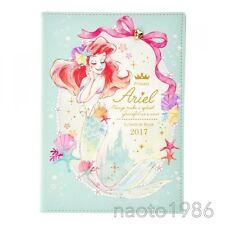 Little Mermaid Notebook schedule book 2017 Ariel DISNEY STORE JAPAN