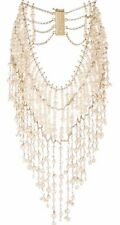 Rosantica Pearl Necklace Gold Tone Bib Necklace Crystal Statement Italy NEW