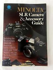 Minolta SLR Cameras & Accessories Guide Book Manual 1989 Maxxum