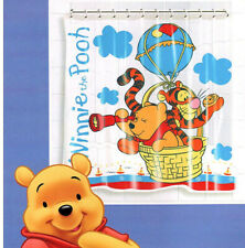 Disney Winnie The Pooh Kids Shower Curtain with Hooks