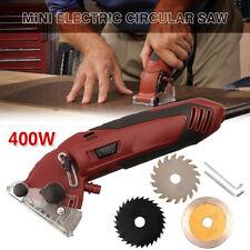 Electric Mini Laser Circular Saw Hand Held Grinder Cutting Tool Kit w/ 3 Blades