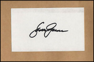 James Garner Jim Rockford Files Original Hand Signed Autograph Card & COA