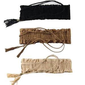 Women Ladies Fashion Flower Tassels Elastic Stretch Corset Waistband Waist Belt