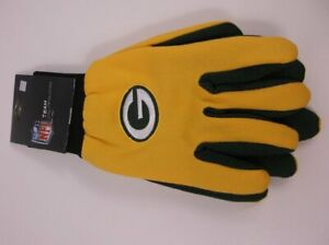 NFL TEAM UTILITY GLOVES GREEN BAY PACKERS ADULT WORK WINTER OFFICIAL LICENSE NWT