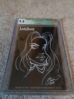 "Lady Death (Secrets)  #1 Dawn Mcteigue Necro Sketch Edition ""B"" Ltd 50 CGC 9.8"