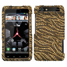 For Motorola DROID RAZR Crystal Diamond BLING Case Snap On Phone Cover Tiger