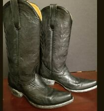 Black Embroidered  7B Old Gringo  Style 1964  Distressed  Cowgirl Boots
