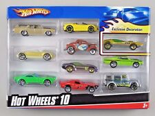 HOT WHEELS 10 Pack with Exclusive Metal Flake Gold SPLITTIN' IMAGE 2009 [Set 2]