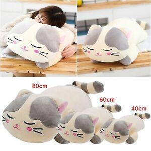 Plush Toy Cat Chubby Soft Squishy Cute Cartoon Animal Cushion Pillow Best Gifts