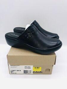 Clarks Women's Delana Hayden Leather Mule Black US 8.5M / EUR 39.5