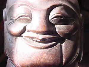 Healing home Love Buddha BAMBOO statue,Good Luck,Medicine Buddha Energy,mandala,