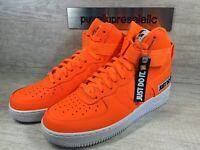 Mens Nike Air Force 1 Hi '07 LV8 JDI LTR 'Just Do It' Orange BQ6474-800 Size 8.5
