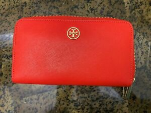 Authentic Tory Burch Robinson Zip Continental Wallet