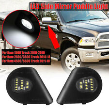 2PCS  18LED Side Mirror Puddle Light Lamps For Dodge Ram 1500 2500 3500 4500 US