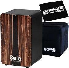 Sela SE089 Cajon CaSela Black Dark Nut + Tasche + Sitzpad