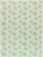 Printed Translucent / Vellum Scrapbook  Paper A/4 Shabby Roses