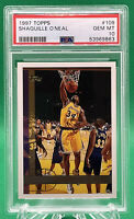 1997 TOPPS #109 SHAQUILLE O'NEAL 🔥 PSA 10 🔥 LOW POP 🔥 LAKERS HOF