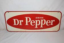 """Vintage 1950's Dr Pepper Soda Pop Gas Station 30"""" Metal Sign"""