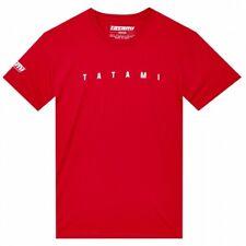Tatami Standard T-Shirt Red Tee BJJ Casual No-Gi Grappling Workout Jiu Jitsu
