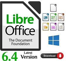 Office Suite for Microsoft Windows platform Libre Office 6.4 complete software