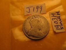 Canada 1903 Small H Rare Keydate 10 Cent Silver Coin IDJ199.